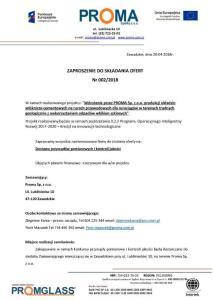 Zaproszenie do składania ofert nr 002/2018