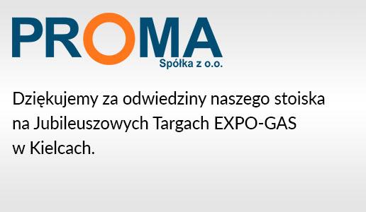 Podziękowanie za odwiedzenie na Targach EXPO-GAS.